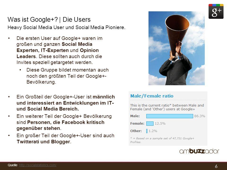 Was ist Google+ | Die Users