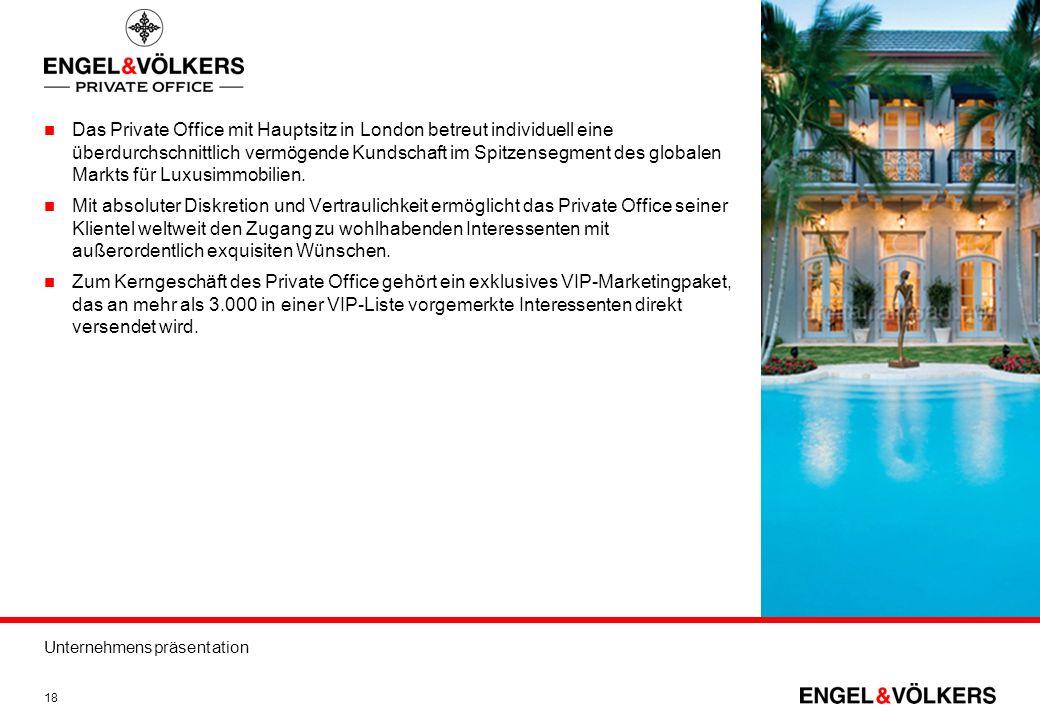 Das Private Office mit Hauptsitz in London betreut individuell eine überdurchschnittlich vermögende Kundschaft im Spitzensegment des globalen Markts für Luxusimmobilien.