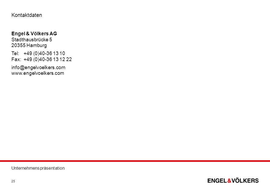 Kontaktdaten Engel & Völkers AG Stadthausbrücke 5 20355 Hamburg