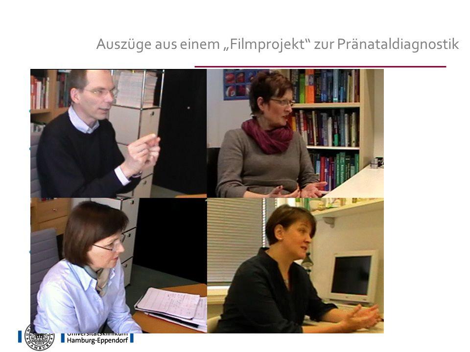 """Auszüge aus einem """"Filmprojekt zur Pränataldiagnostik"""