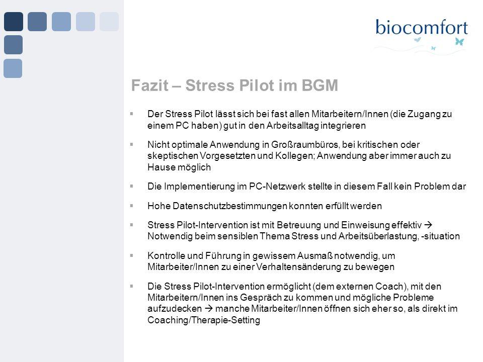 Fazit – Stress Pilot im BGM