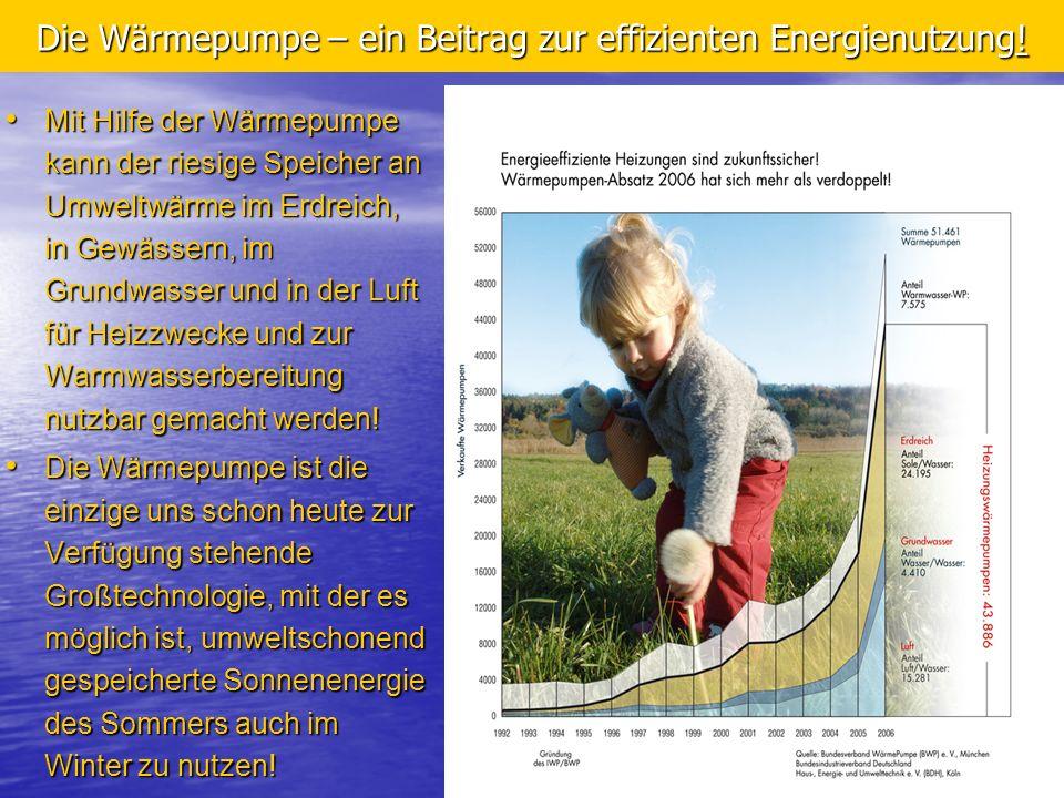 Die Wärmepumpe – ein Beitrag zur effizienten Energienutzung!
