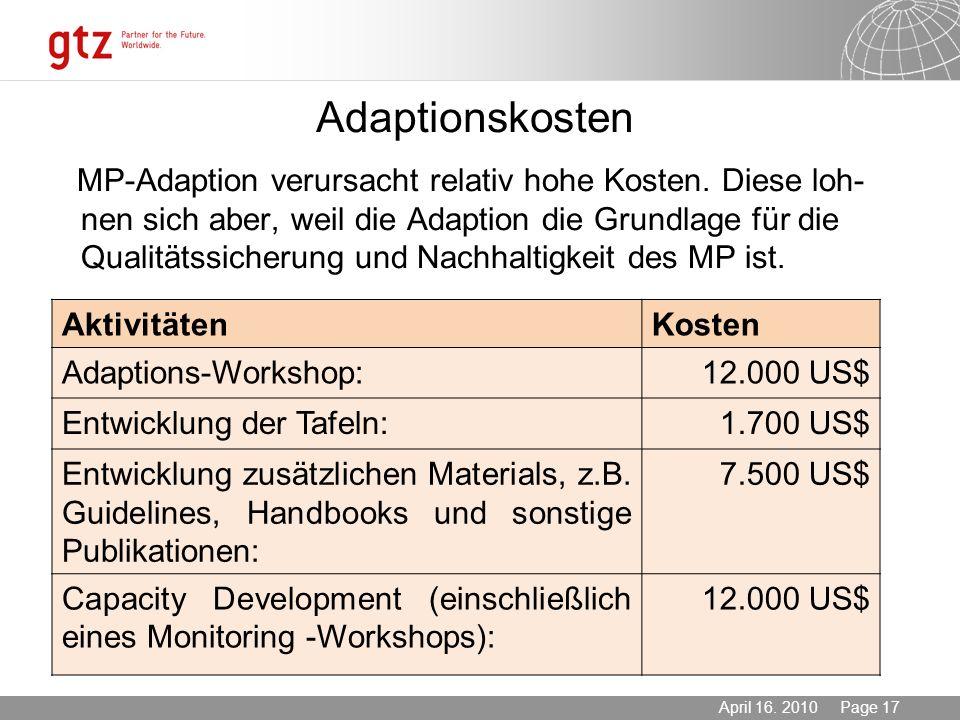 Adaptionskosten