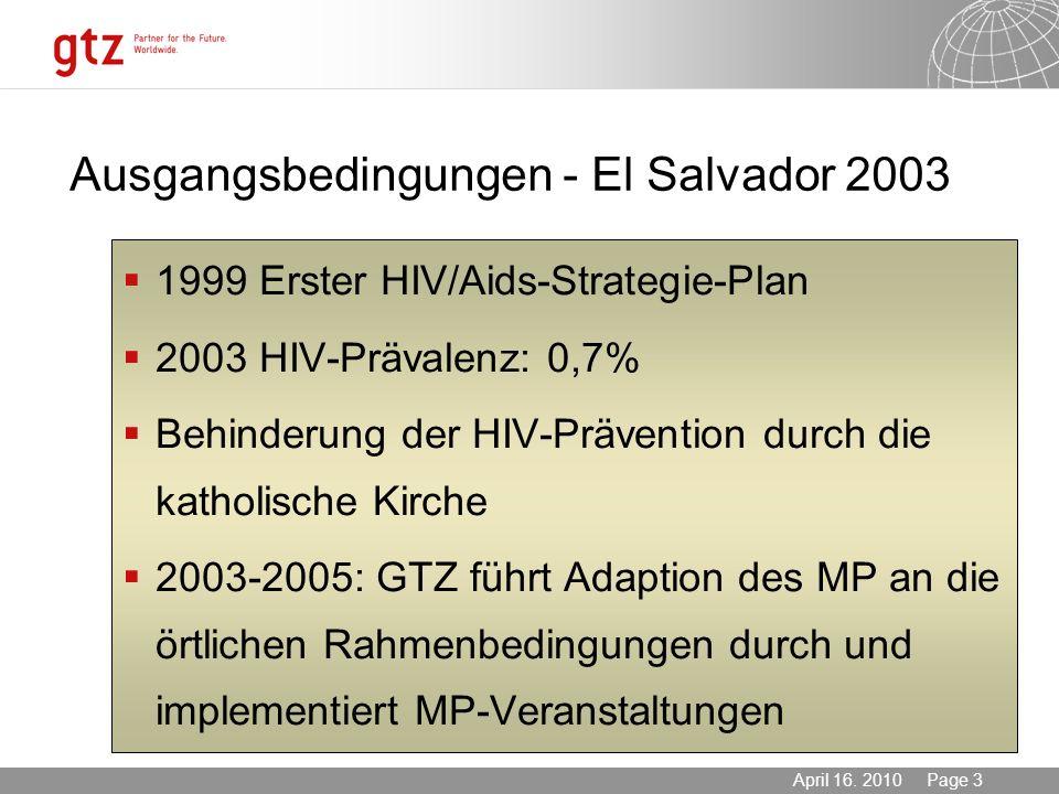 Ausgangsbedingungen - El Salvador 2003