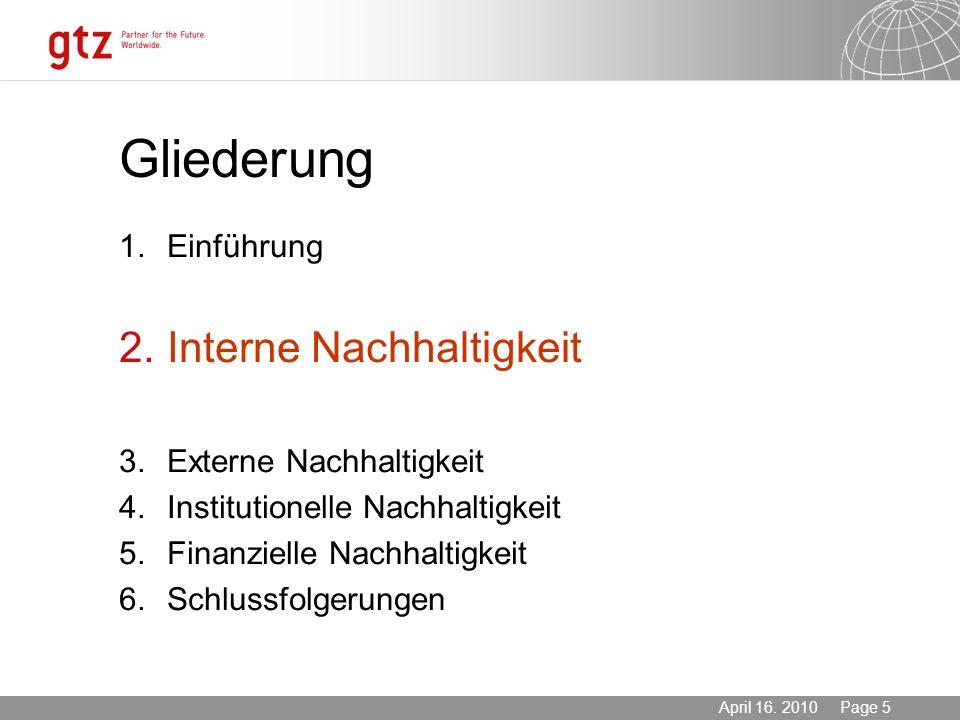 Gliederung Interne Nachhaltigkeit 1. Einführung