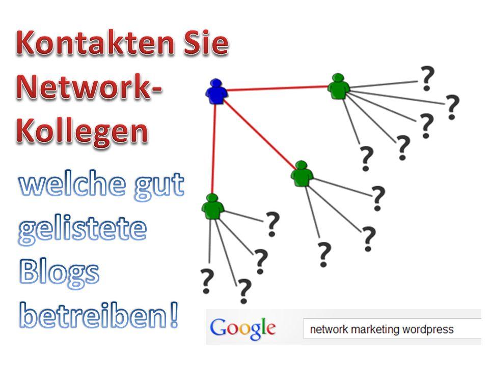 Kontakten Sie Network- Kollegen welche gut gelistete Blogs betreiben!