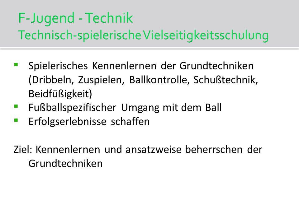 F-Jugend - Technik Technisch-spielerische Vielseitigkeitsschulung