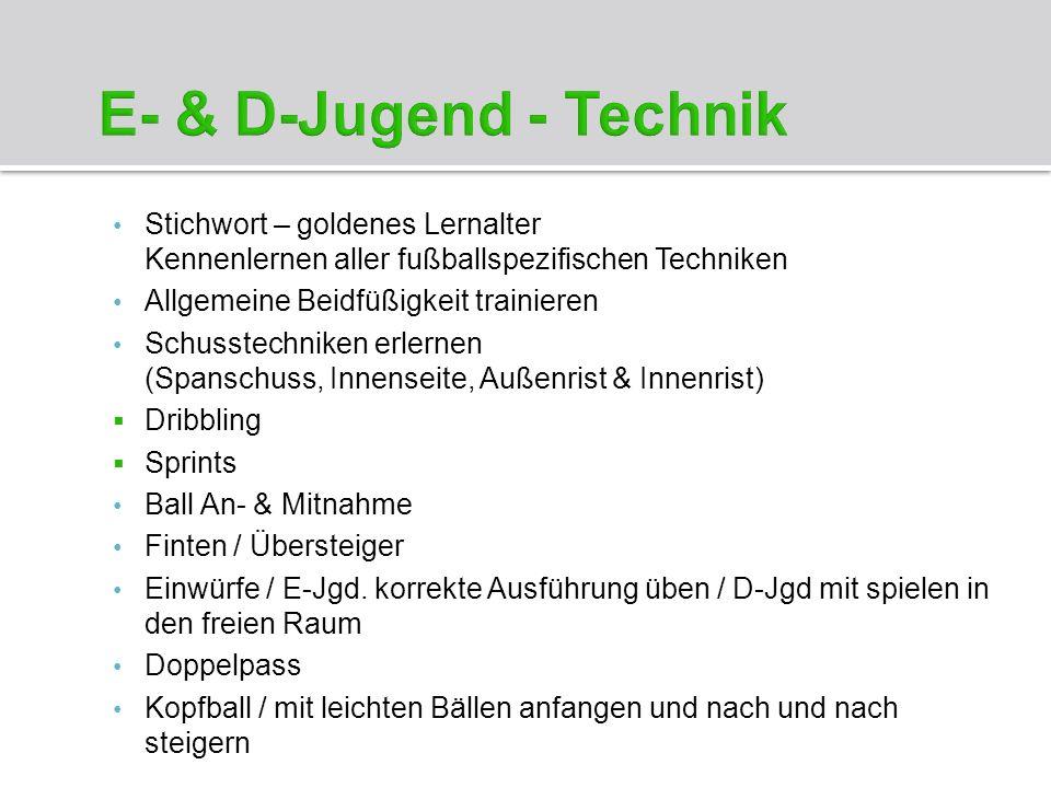 E- & D-Jugend - Technik c