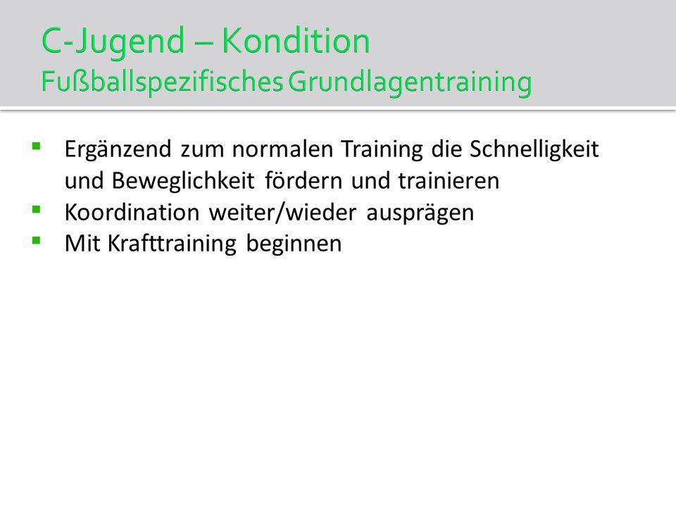 C-Jugend – Kondition Fußballspezifisches Grundlagentraining