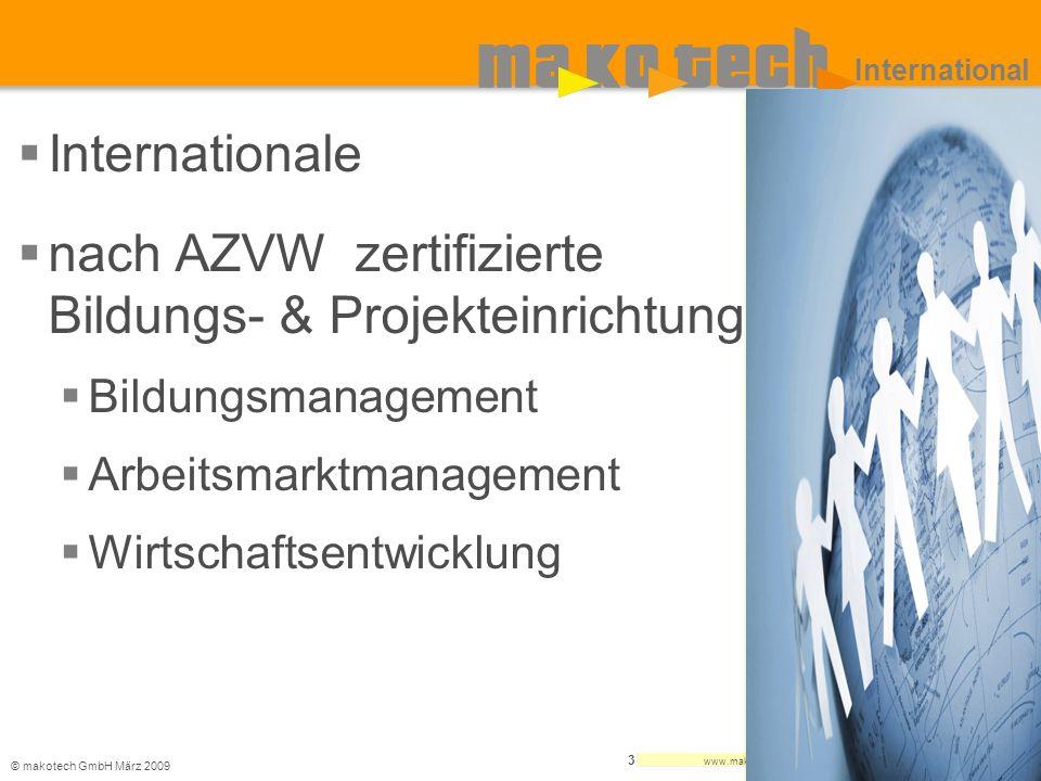 nach AZVW zertifizierte Bildungs- & Projekteinrichtung