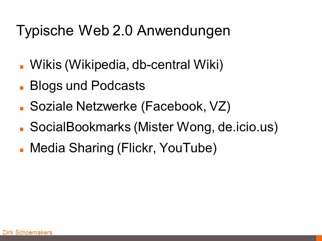 Typische Web 2.0 Anwendungen