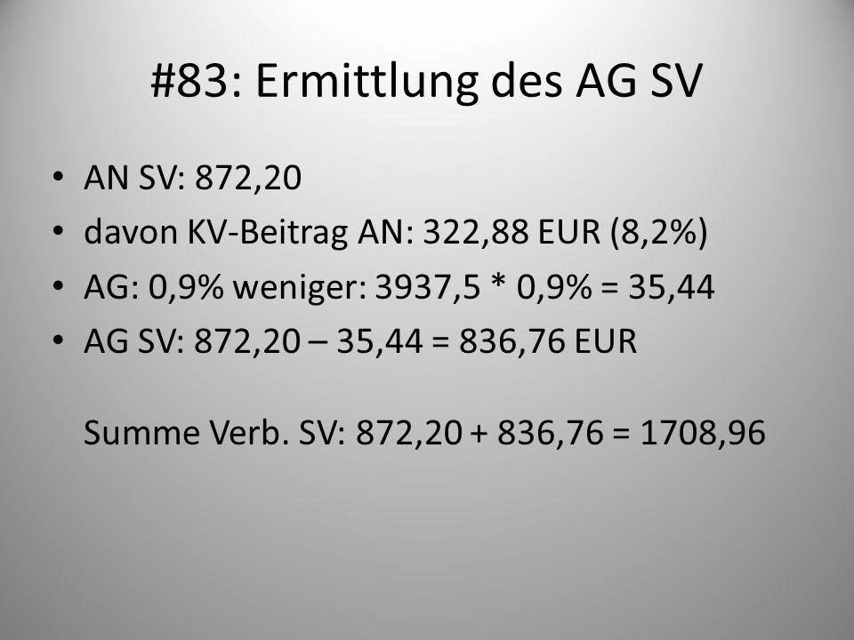 #83: Ermittlung des AG SV AN SV: 872,20
