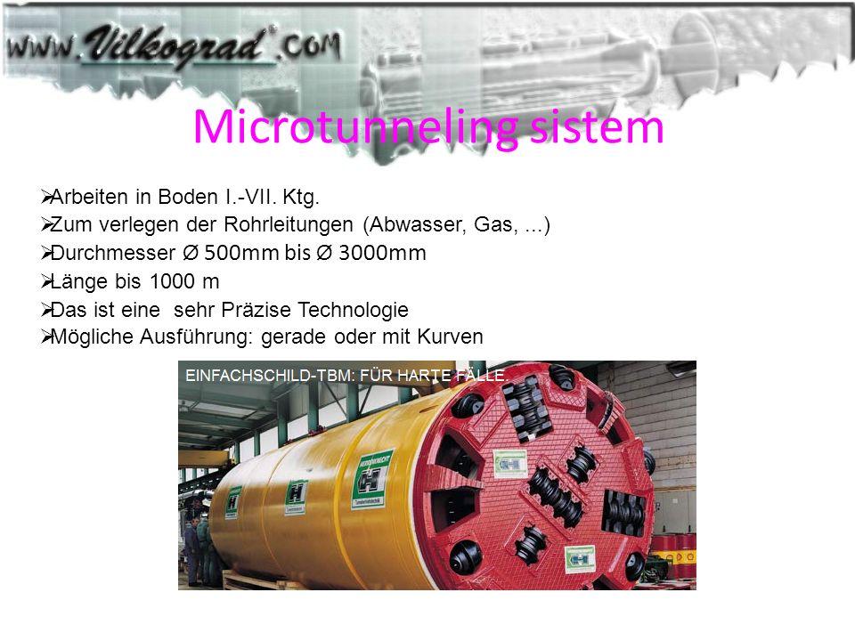 Microtunneling sistem