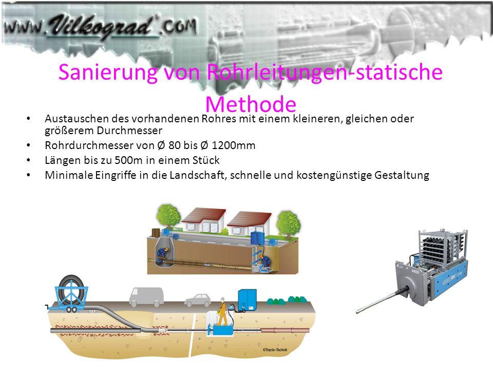 Sanierung von Rohrleitungen-statische Methode