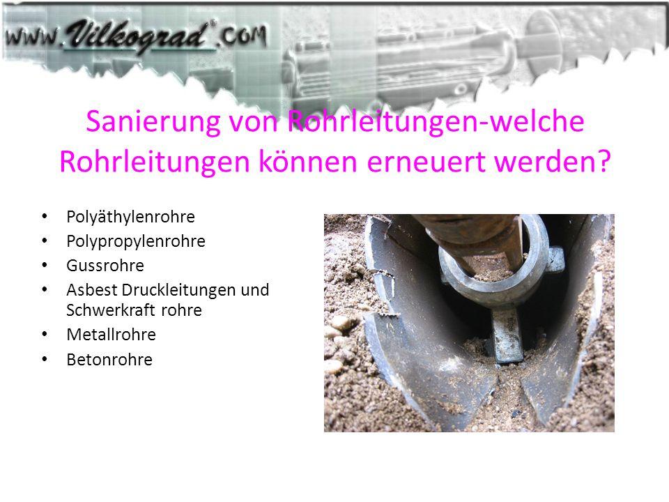 Sanierung von Rohrleitungen-welche Rohrleitungen können erneuert werden