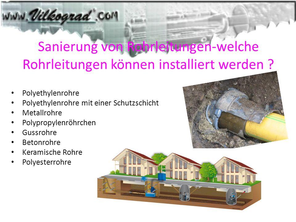 Sanierung von Rohrleitungen-welche Rohrleitungen können installiert werden