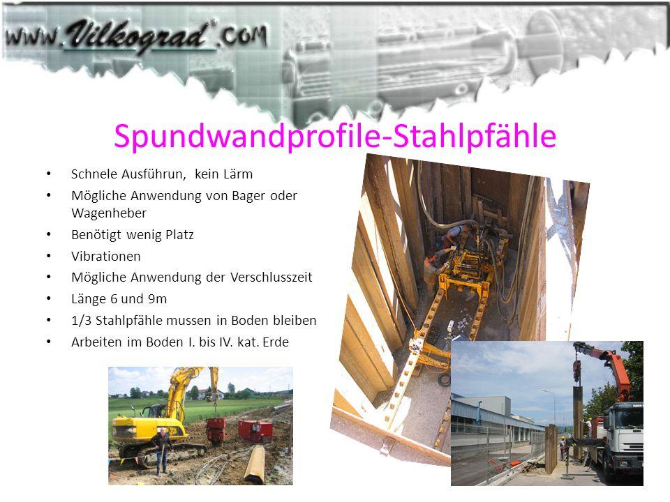 Spundwandprofile-Stahlpfähle