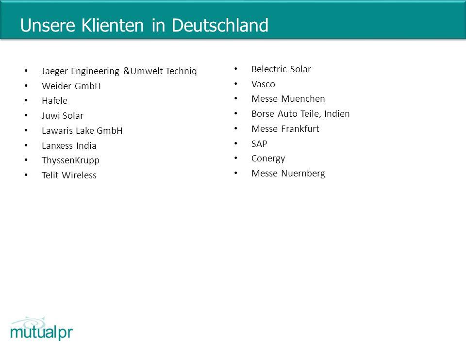 Unsere Klienten in Deutschland