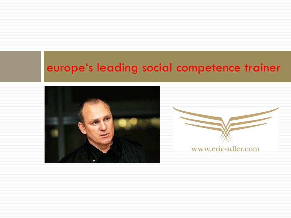 europe's leading social competence trainer