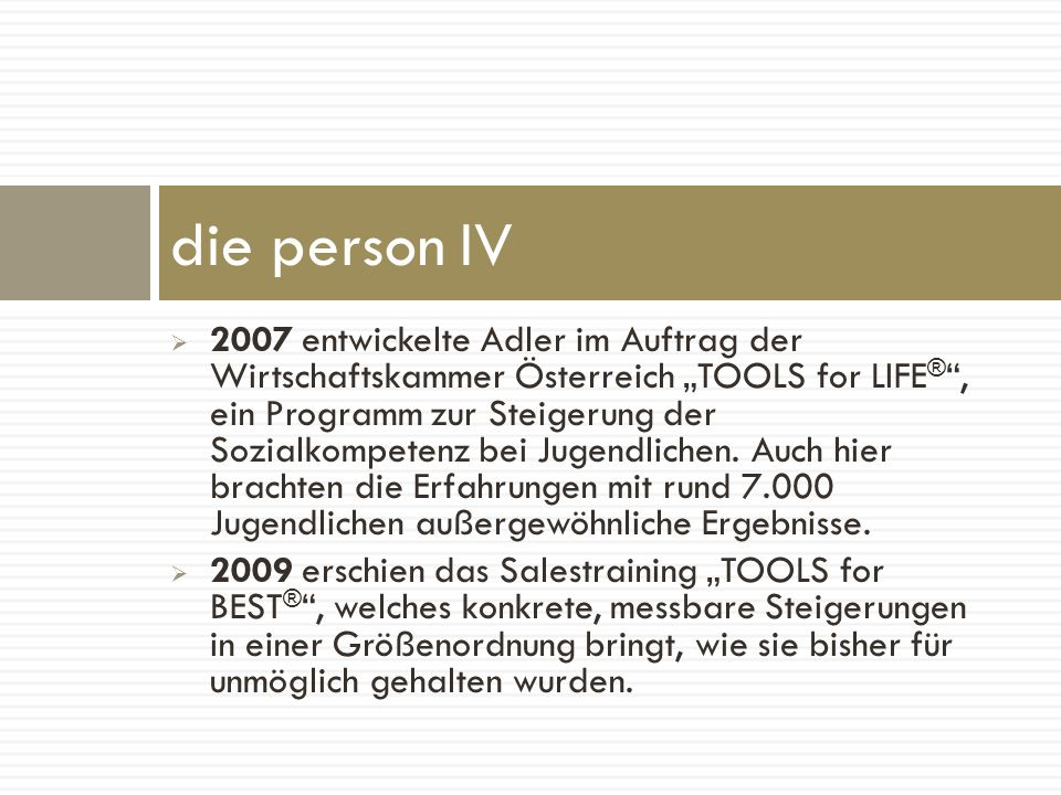 die person IV
