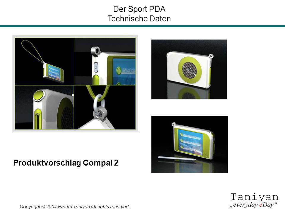 Der Sport PDA Technische Daten