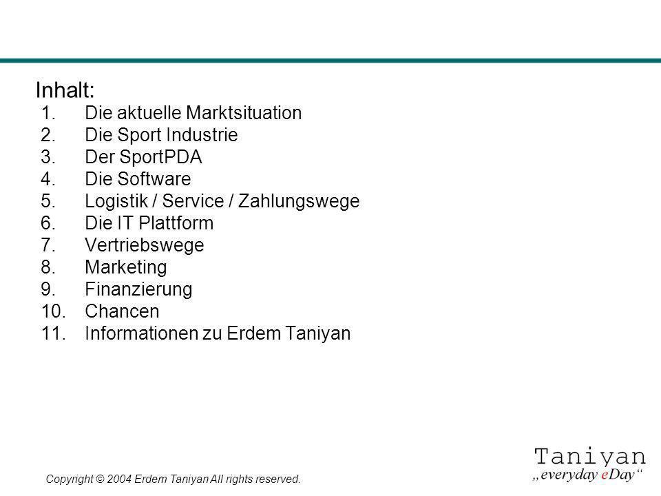 Inhalt: Die aktuelle Marktsituation Die Sport Industrie Der SportPDA
