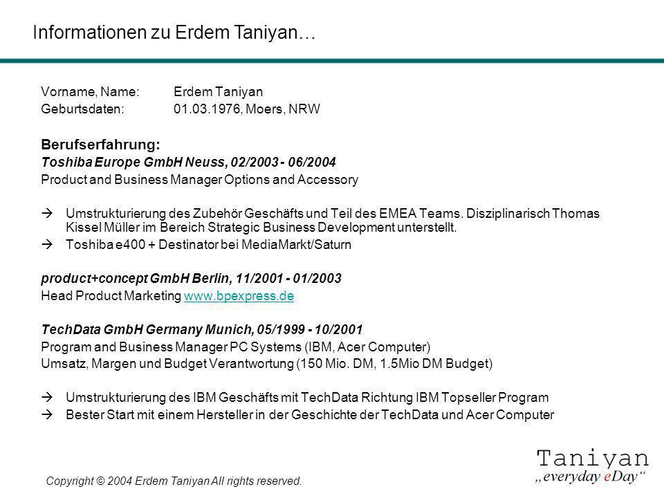 Informationen zu Erdem Taniyan…