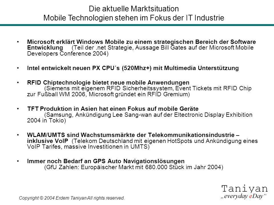 Die aktuelle Marktsituation Mobile Technologien stehen im Fokus der IT Industrie