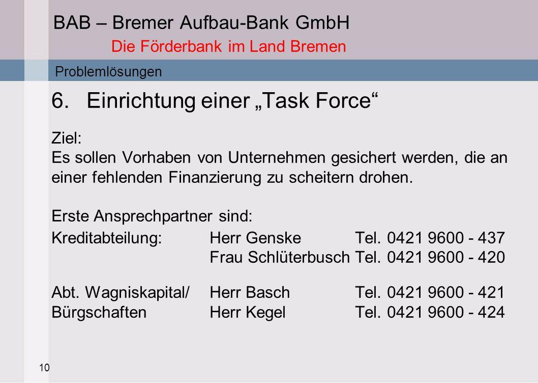 BAB – Bremer Aufbau-Bank GmbH Die Förderbank im Land Bremen