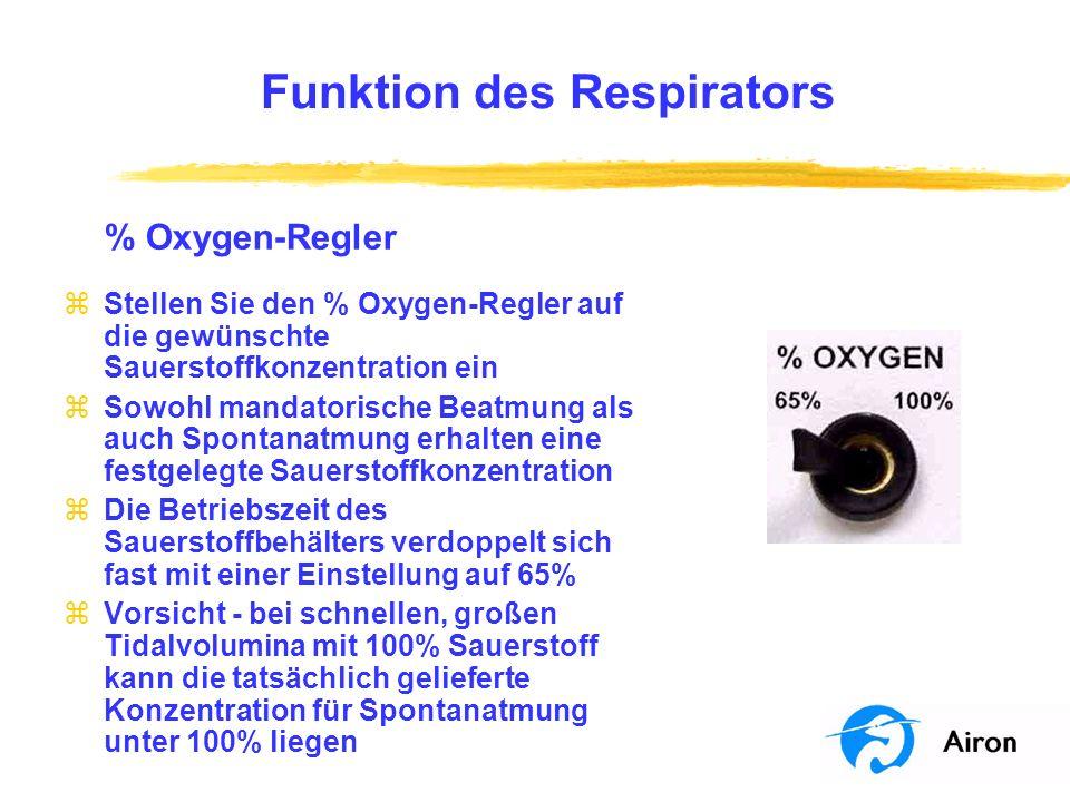 Funktion des Respirators