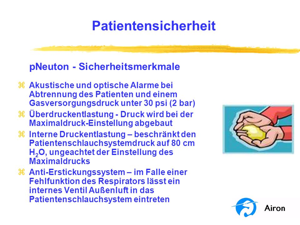 Patientensicherheit pNeuton ‑ Sicherheitsmerkmale