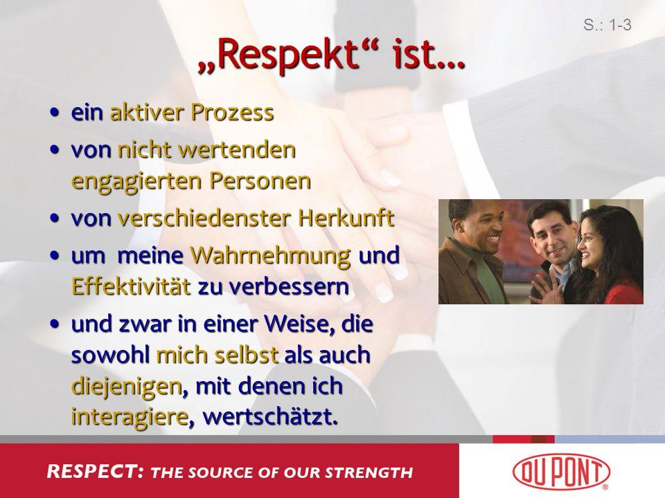 """""""Respekt ist… ein aktiver Prozess"""