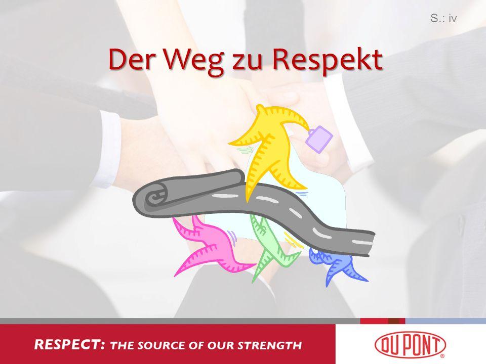 S.: iv Der Weg zu Respekt