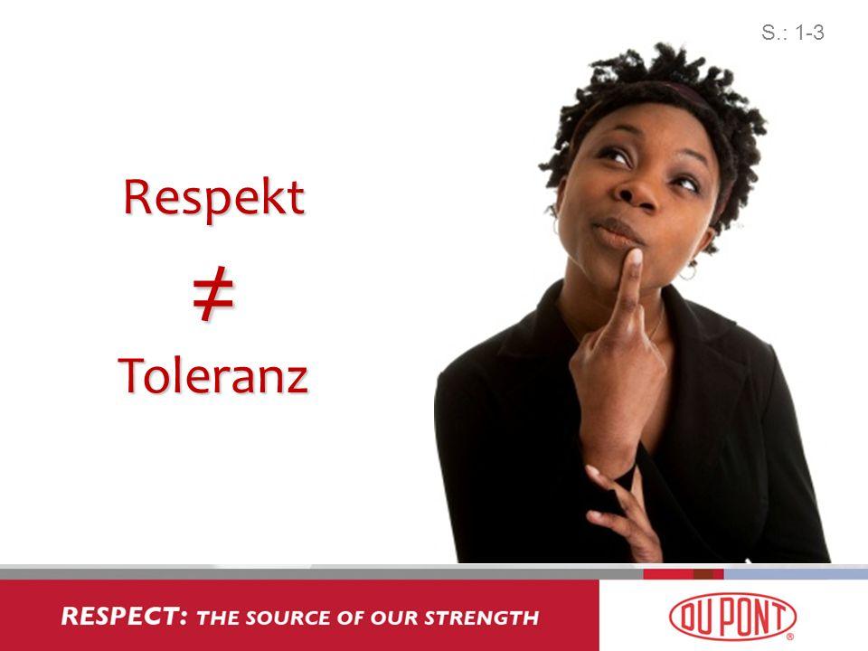 S.: 1-3 Respekt ≠ Toleranz