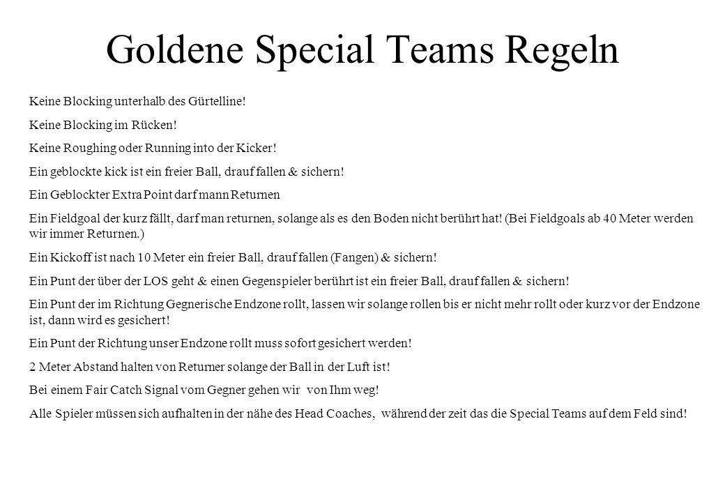 Goldene Special Teams Regeln