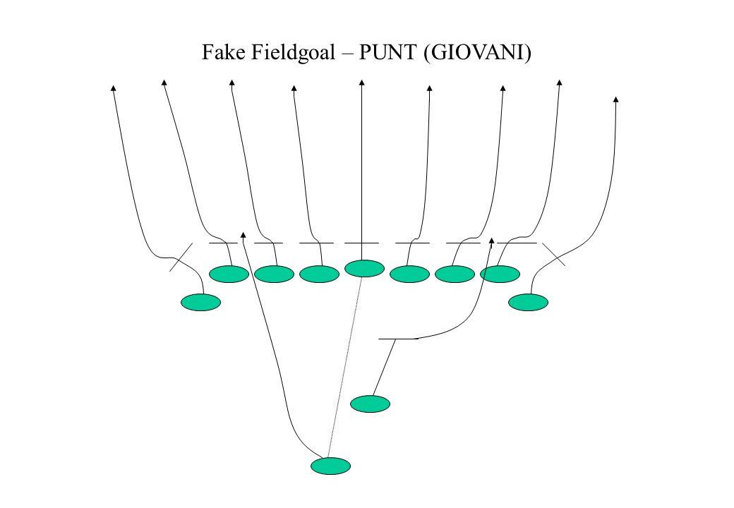 Fake Fieldgoal – PUNT (GIOVANI)