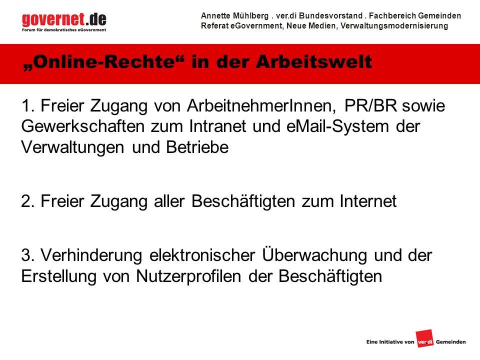 """""""Online-Rechte in der Arbeitswelt"""