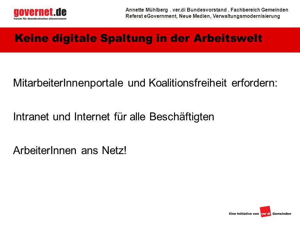 Keine digitale Spaltung in der Arbeitswelt
