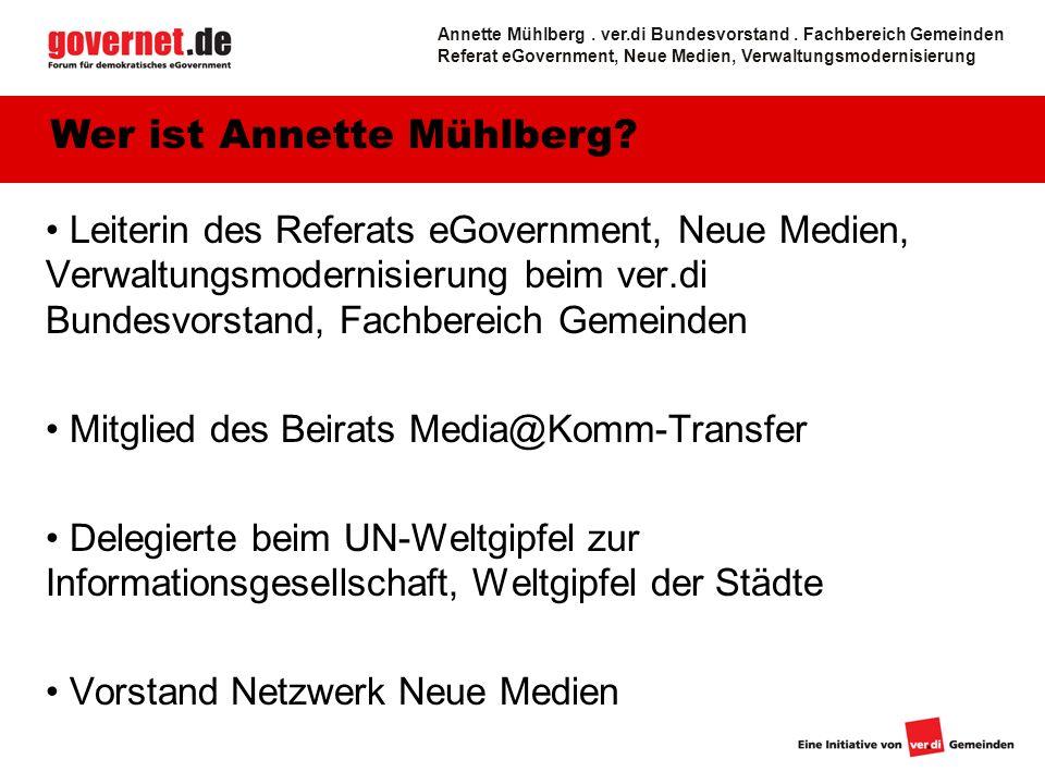 Wer ist Annette Mühlberg
