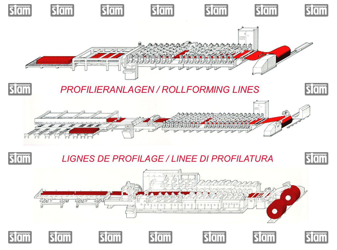 PROFILIERANLAGEN / ROLLFORMING LINES