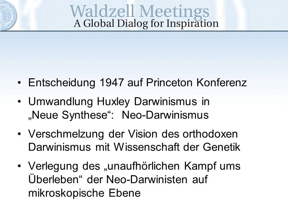 Entscheidung 1947 auf Princeton Konferenz