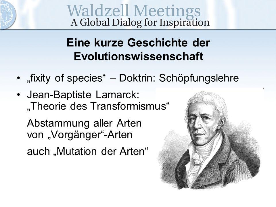 Eine kurze Geschichte der Evolutionswissenschaft
