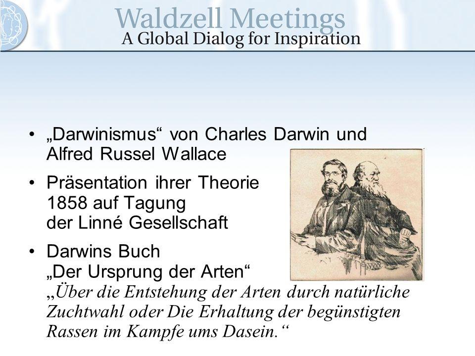 """""""Darwinismus von Charles Darwin und Alfred Russel Wallace"""