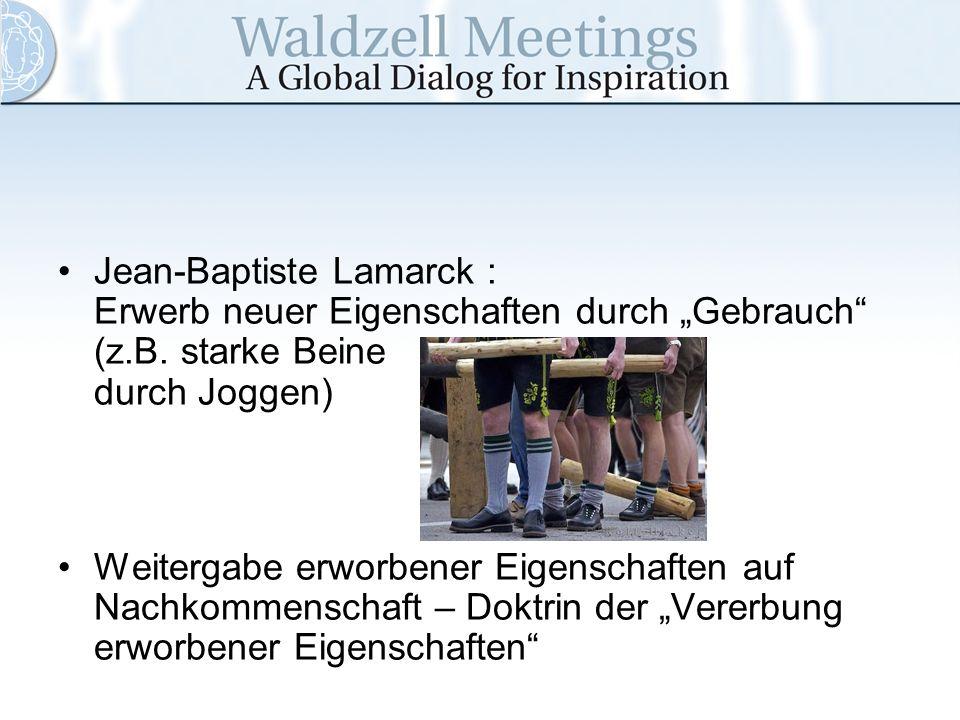 """Jean-Baptiste Lamarck : Erwerb neuer Eigenschaften durch """"Gebrauch (z"""