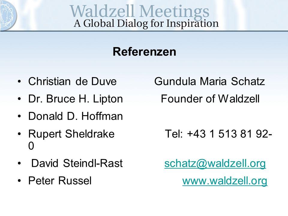 Referenzen Christian de Duve Gundula Maria Schatz