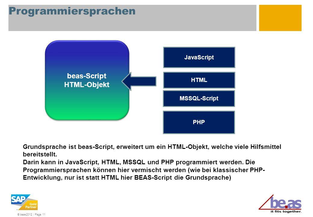 Programmiersprachen beas-Script HTML-Objekt