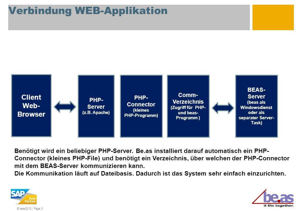 Verbindung WEB-Applikation