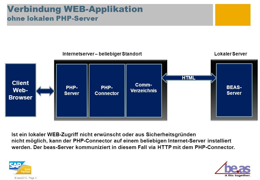 Verbindung WEB-Applikation ohne lokalen PHP-Server