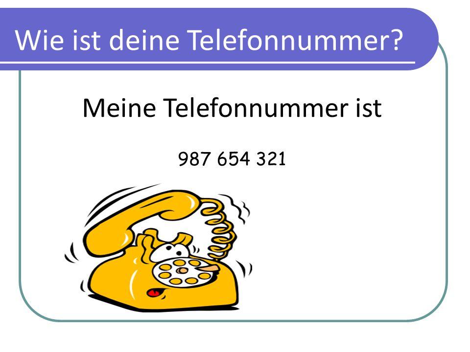 Meine Telefonnummer ist