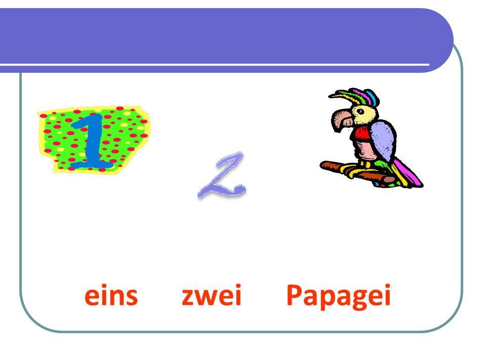 2 eins zwei Papagei